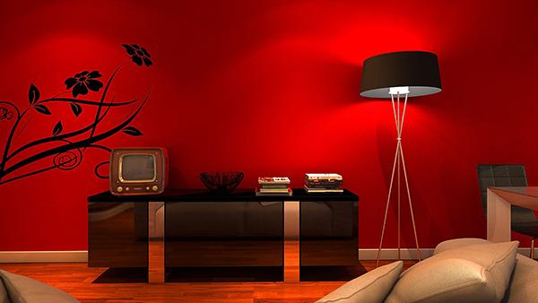 热情活泼的红色墙面涂料