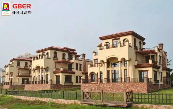 农村盖房用无机外墙涂料效果比豪宅还要美!
